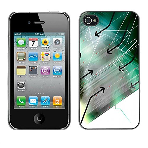 ( Arrow Arrows Modern Art Computer Design ) APPLE iPhone 4 / 4S Hard Printing Protective Cover Protector Sleeve Shell Case Cover