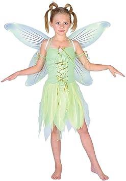 Ladies Fairy Tinkerbell Neverland Green Pixie Fancy Dress Costume 8-12