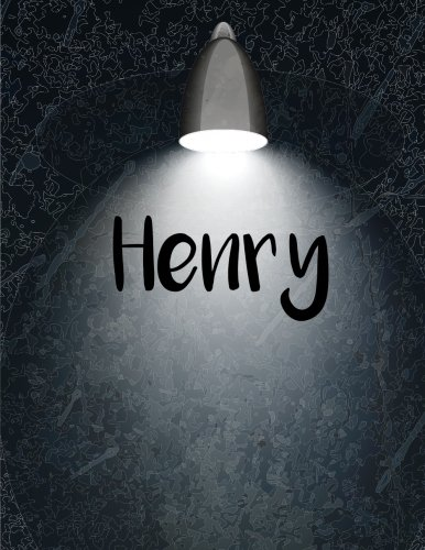 Henry: 110 Pages 8.5x11 Inches Personalized Light Black Wall Art Journal Name Lettering, Journal Composition Notebook for All PDF