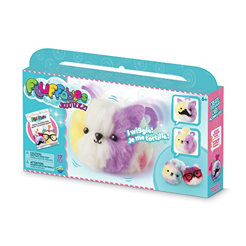 The Orb Factory Fluffables Marshmallow Motion Arts & Crafts, White/Purple/Yellow/Pink/Green, 11.75