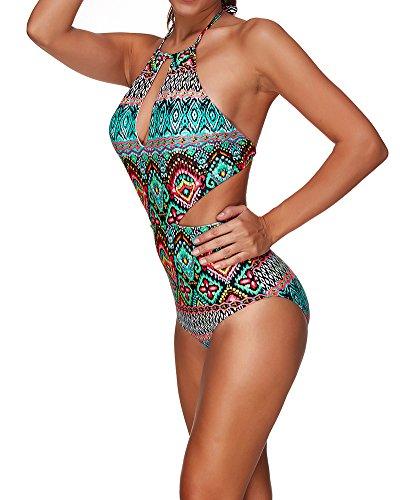 Trajes de para mujer Las mujeres más Bikini impreso Bohemia Swimwear Swimsuit de Tankini Estilo2