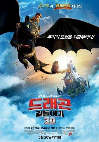Amazon Com How To Train Your Dragon Korean 11x17 Movie Poster 2010 Prints Posters Prints