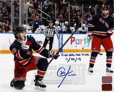 Chris Kreider New York Rangers Signed Autographed Action Slap Shot 8x10
