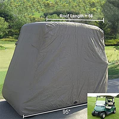 Holarose Golf Cart Cover Storage, Waterproof Golf Cart Easy-On Cover Fit EZ Go, Club Car