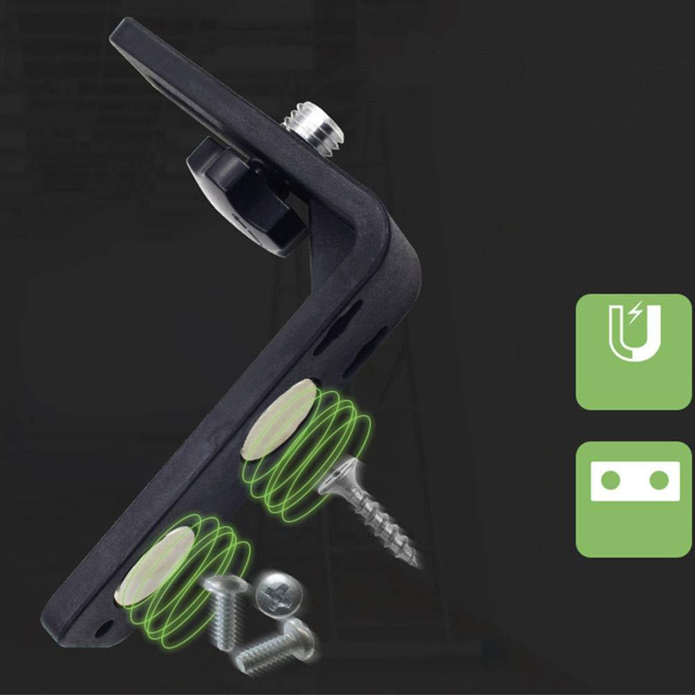 5//8 pulgadas negro Leica multifuncional Spectra Nivel de im/án en forma de L Hilti y Dewalt La Sers Bosch soporte de nivelaci/ón en forma de L soporte de nivel de atracci/ón para Topcon
