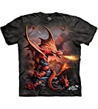 The Mountain Fire Dragon - Playera para Hombre, Gris, Large