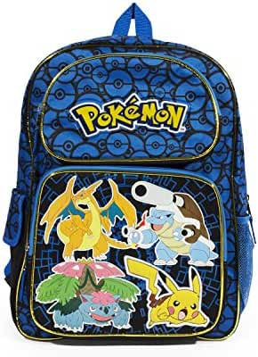 Personalized Pokemon Back to School Backpack Book Bag - 16 Inches