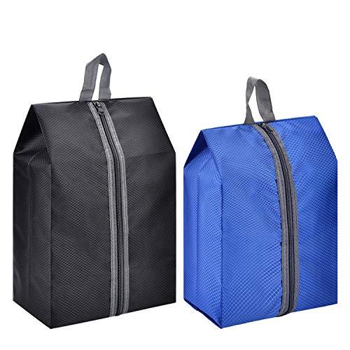 l Shoe Bags Shoes Organizer Waterproof Nylon with Zipper for Men Women(2 pack) ()