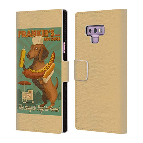 Official Lantern Press Frankie's Dog Collection Leather Book Wallet Case Cover for Samsung Galaxy Note9 / Note 9