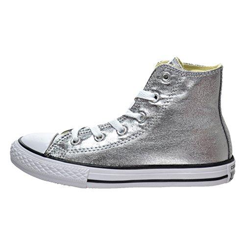 CONVERSE Chuck Taylor All Star Season Hi - Zapatillas de tela infantil Gris metálico