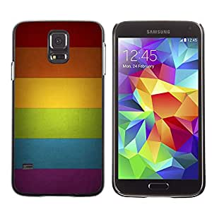 Cubierta protectora del caso de Shell Plástico || Samsung Galaxy S5 SM-G900 || Rainbow Colors Spectrum Horizontal @XPTECH