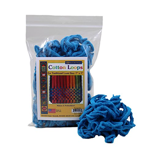 Harrisville Designs Traditional 7 Cotton Loops, Turquoise - Makes 2 Potholders