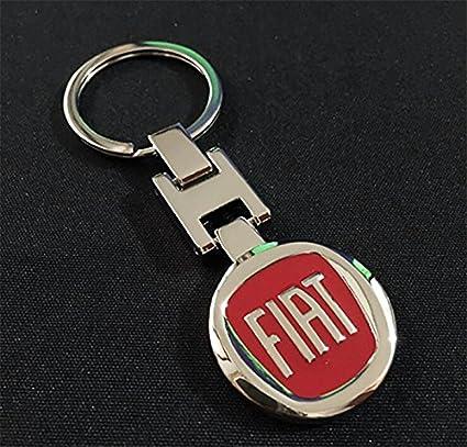 Llavero deluxe con logo de Fiat, cromado: Amazon.es: Coche y ...