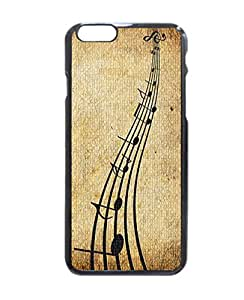 "music notes Pattern Image Protective iphone 5 5s ("") Case Cover Hard Plastic Case For iphone 5 5s - Inches"