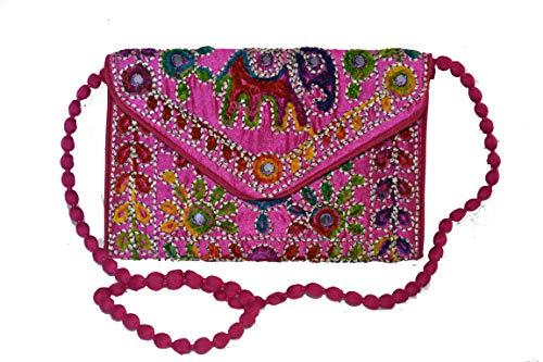tessuto Pochette in colori Rosa Vari cm disponibili 32x20 etnici con motivi 55SZq