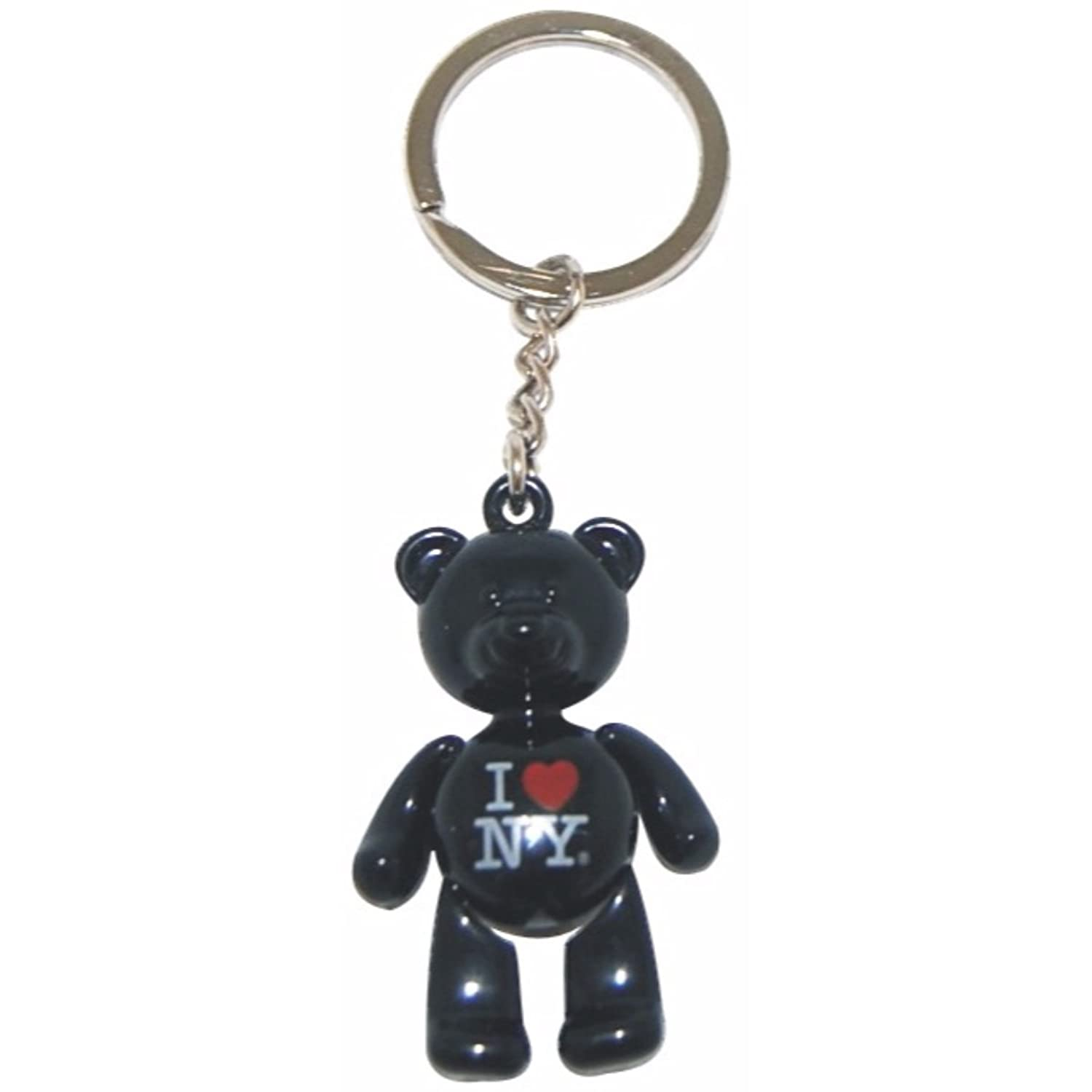 Amazon.com: 5 Metal New York City Teddy Bear Keychains (I ...