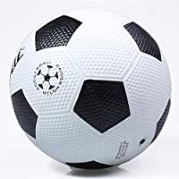 TOUARETAILS Classic Black White Standard Rubber Football Student Training Professional Match Soccer Ball/Football Size - 5