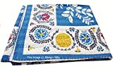 Mango Gifts Pure Cotton Kantha Style Queen Size Patchwork Quilt, Indian Gudri Bed Cover 86'' X 106'' Inches Approx