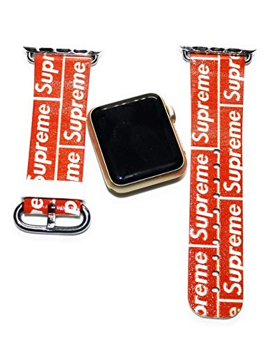 (Streets Fashion Inspired Print Smart Watch Replacement Strap red 38/40 Apple Compatible Series 2 3 4)