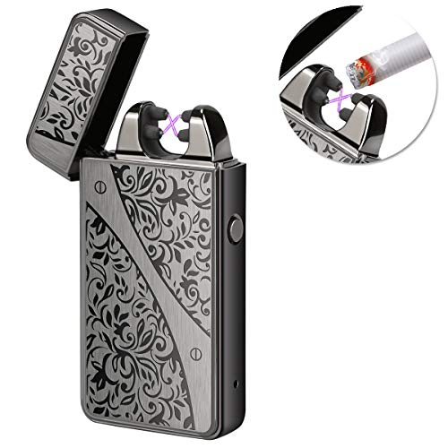Kivors Rechargeable Windproof Arc Lighter Flameless Electronic Plasma Double Arc Lighter