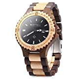 GBlife Bewell ZS - W023A Men Wooden Bangle Quartz Watch with Calendar Display