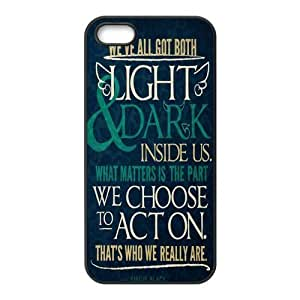 LeonardCustom Harry Potter Inspirational Quotes Protective TPU Rubber Coated Phone Cover Case for iPhone5 iPhone5S
