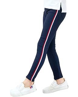 Niña Leggings de Color Sólido Slim Fit Casual Elástico Pantalones de Lápiz Jeggings Leggins