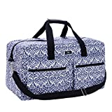 SCOUT Duffy Large Travel Duffle Bag, Ample Pockets, Adjustable Strap, Water Resistant, Zips Closed, Royal Highness