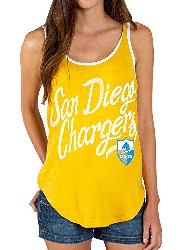 Junk Food NFL San Diego Chargers Mustard Yellow Juniors Tank Top (Juniors X-Large)