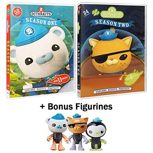 Octonauts: TV Series Complete Seasons 1 & 2 - 76 Episodes + Bonus Barnacles, Kwazii, & Peso Figurines -
