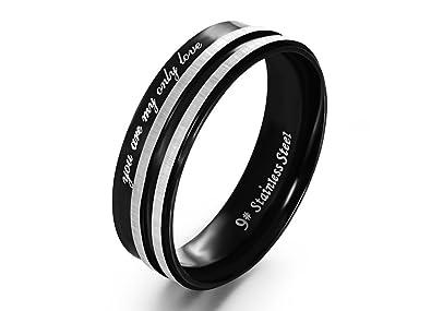 Amazon.com: Um joyería de los hombres de la mujer anillos ...