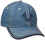 True Religion Men's Crackle-Look W/Felt Patch Ball Cap