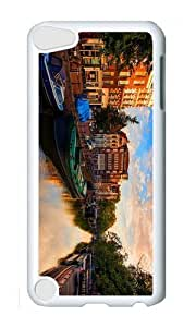 Ipod 5 Case,MOKSHOP Cute amsterdam netherlands canal river house Hard Case Protective Shell Cell Phone Cover For Ipod 5 - PC White