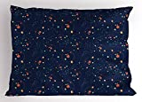 Ambesonne Astrology Pillow Sham, Solar System Planet Astronomy Cosmos Galaxy Mysterious Universe, Decorative Standard Size Printed Pillowcase, 26 X 20 inches, Dark Blue Orange Turquoise
