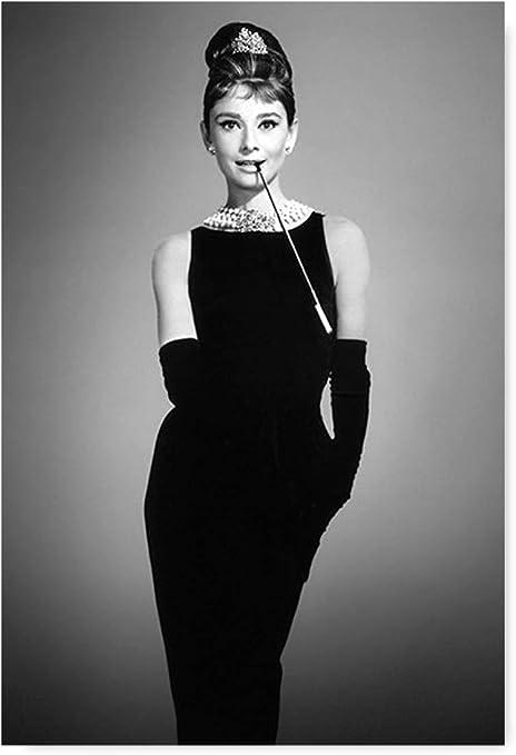 AUDREY HEPBURN POSTER FAMOUS BLACK DRESS POSE 24X36