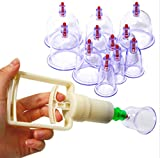 Heng Heng - 12 cups Vacuum Body Cupping Set Portable Massage Therapy Kit