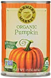 Farmers Market Foods Organic Canned Pumpkin, 15-Ounce Cans