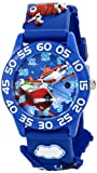 Disney Kids' W001528 'Time Teacher' Planes Watch with Blue 3-D Plastic Band