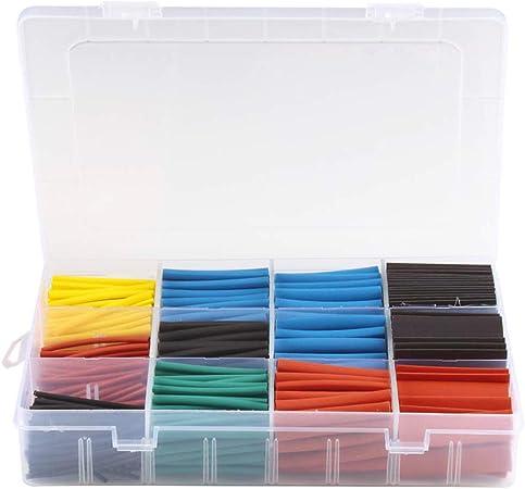 Momokoi Kit de Tubos termorretráctiles, con Caja para Cable de Carga y reparación de Cables de Datos, Tubo de 560 Piezas: Amazon.es: Hogar