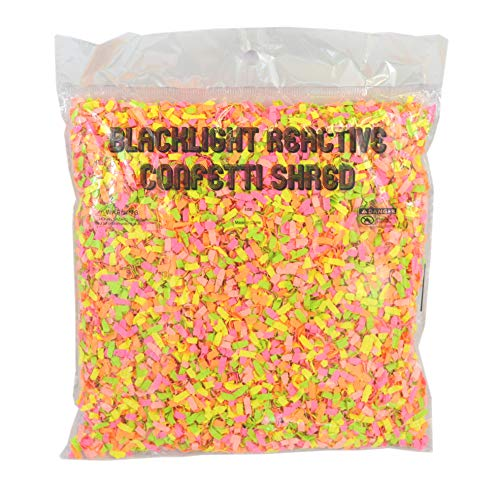 Blacklight Reactive Neon Confetti Bright Flourescent Colors Glows with UV Light Party Favors, Decorations, Birthday Parties (1 oz)