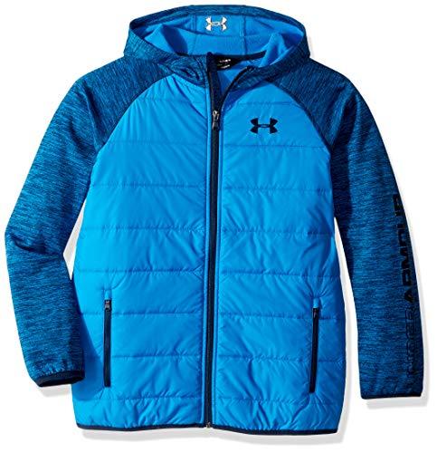 (Under Armour Boys' Little Day Trekker Hooded Hybrid Jacket, Blue Circuit, 7)