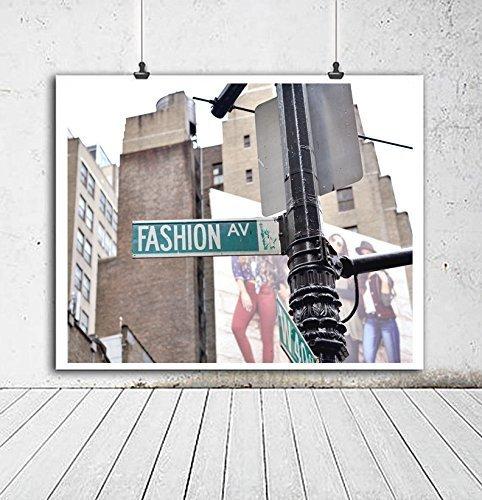 Fashion Art Print, New York City Fashion Avenue Street Sign Photography, Fashion Wall Art Decor, Dorm Wall Art, Urban Wall Decor, Girls Room Art