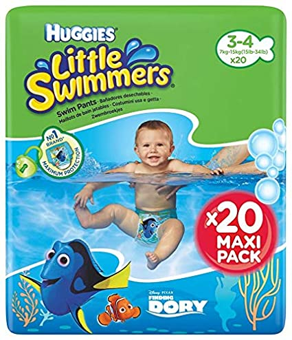 a6e53174d980 Huggies Little Swimmers Pañal Bañador Desechable Talla 3-4 (7-15 Kg). Haz  clic para ...