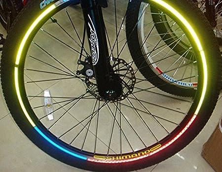 Verde/Azul/Naranja 2 pcs/Pack para ruedas de bicicleta flash ...