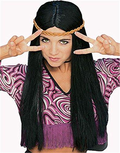 Rubies Witch Wig, Black, One Size - Black Wig Halloween