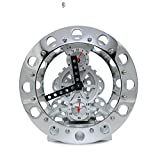 Metal skeleton gear clock/ creative clock/ the Bell alarm clock/Clock/ the living room clock-A