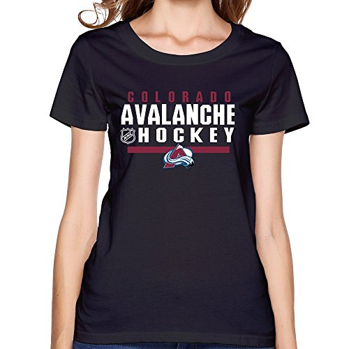 Womens Colorado Avalanche Ice Locker Room Logo O Neck Short Sleeve T Shirt Tee