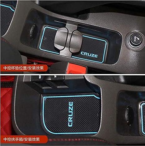 14Pcs Car Interior Non-slip Door Mat Cup Holder Pads For Toyota RAV4 2016 2017