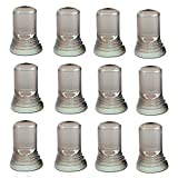 12 Pack - Dust Cap Covers - Liquor & Wine Bottle Universal Cover - Pour Spout Cover (Clear Color)