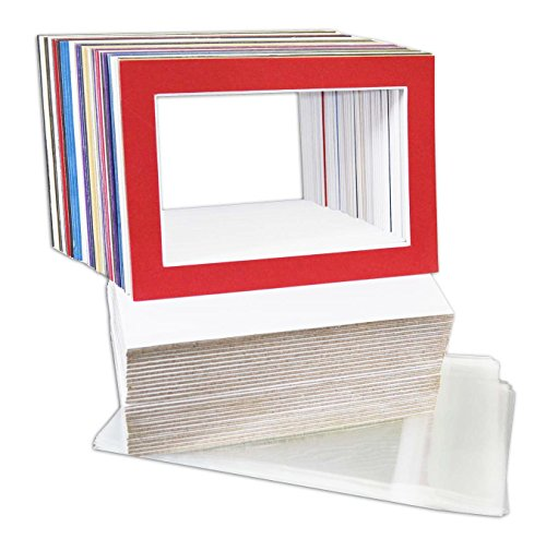 golden-state-art-pack-of-50-mix-pre-cut-5x7-picture-mat-for-4x6-photo-with-white-core-bevel-cut-matt
